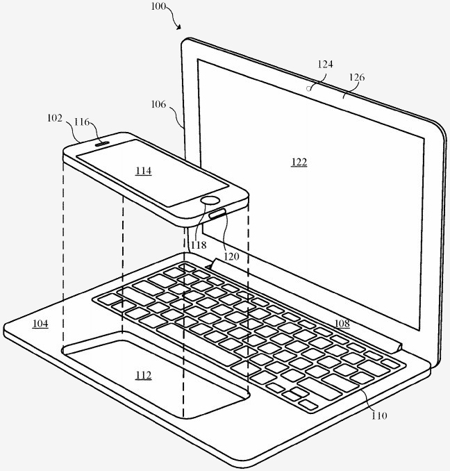 Apple patent application outlines an iPhone-powered notebook