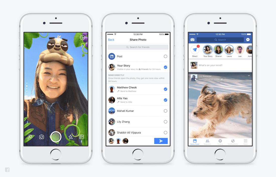 Facebook has now cloned Snapchat stories on all its major properties