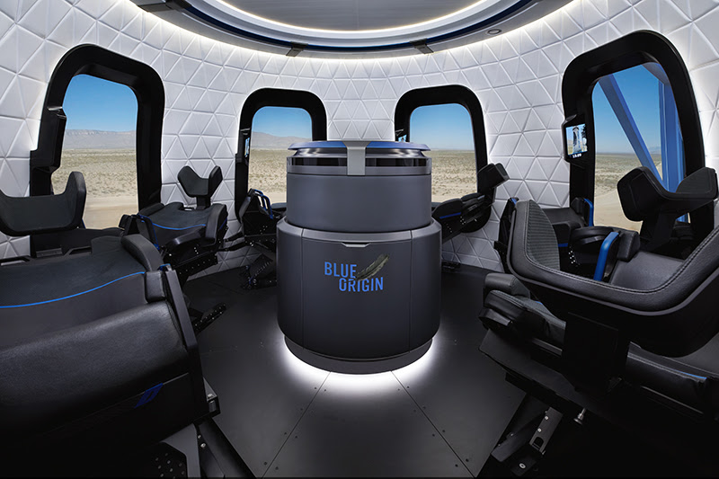 Travel to space in style in Blue Origin's passenger capsule