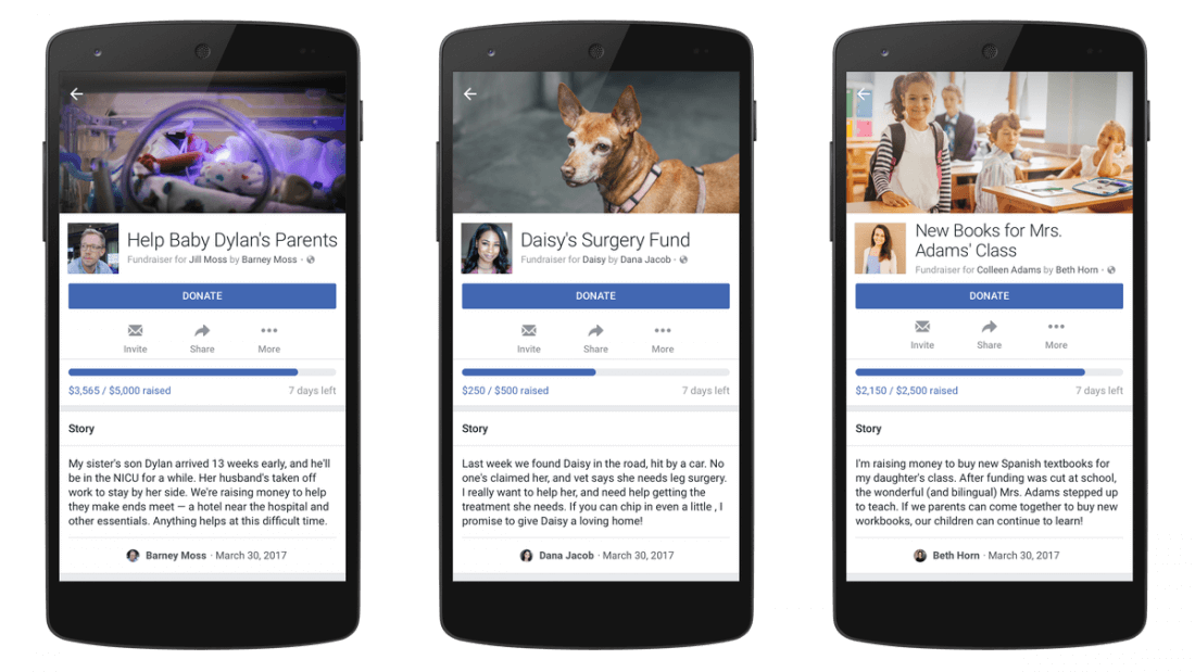 Facebook takes on GoFundMe with 'personal fundraiser' feature