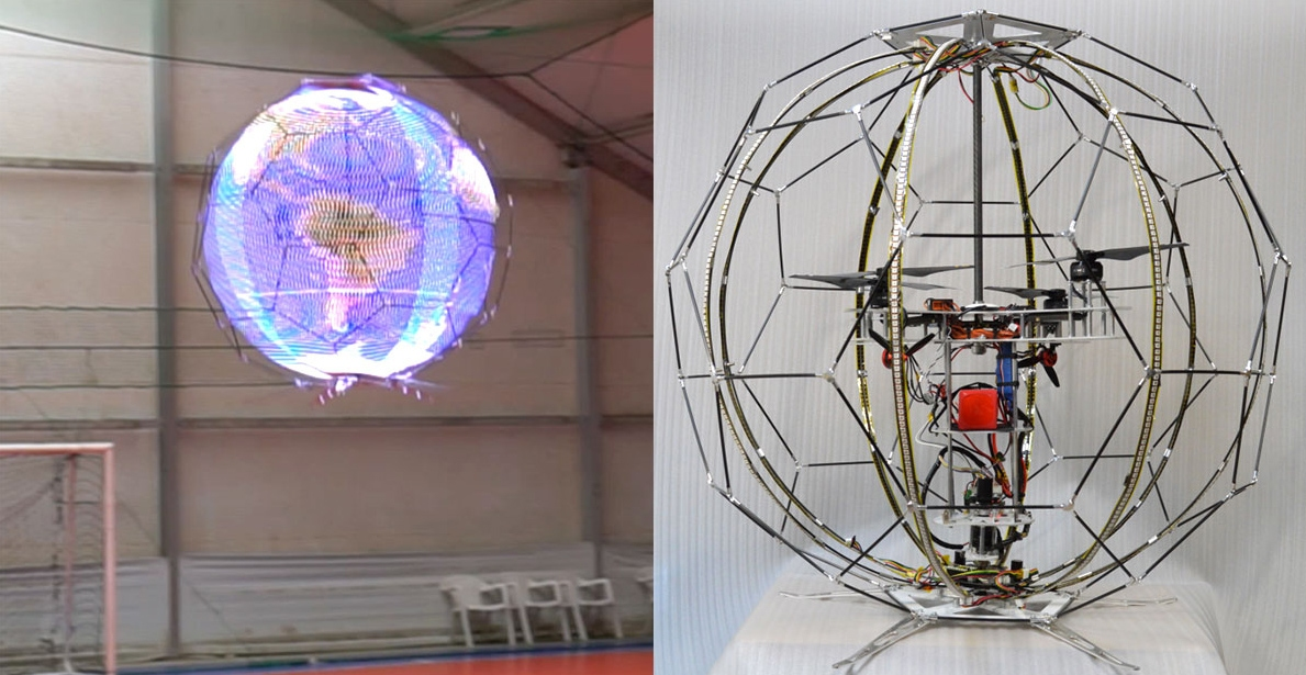 NTT Docomo announces world's first spherical, lighted drone
