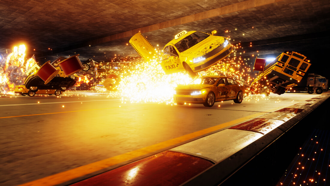 Danger Zone is all about massive car wrecks