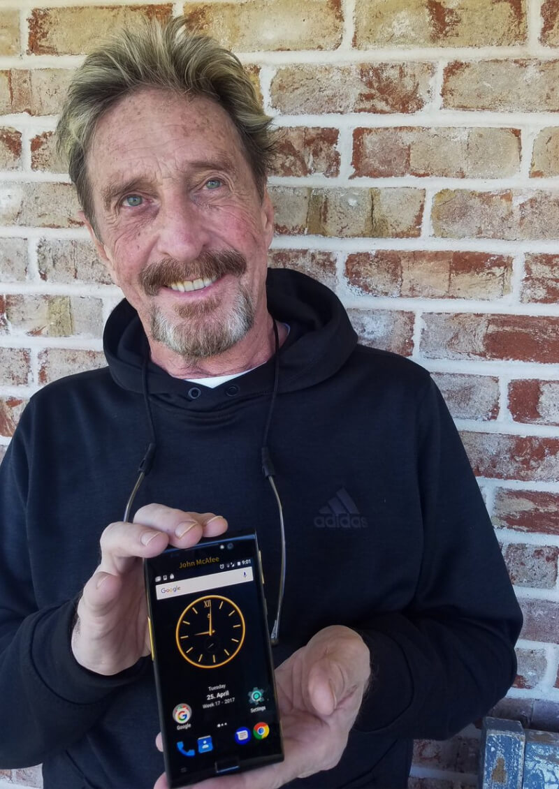 John McAfee unveils his new