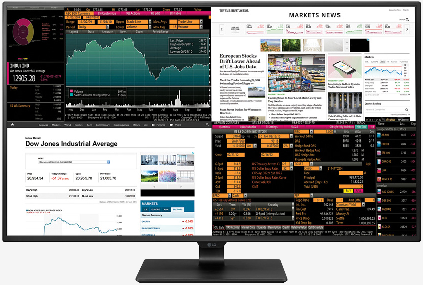 LG's new 4K monitor can display four Full HD sources at once