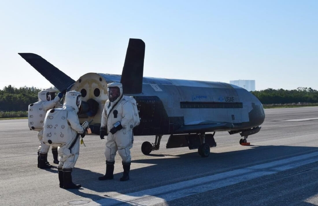 Secretive Air Force space plane touches down in Florida after two-year mission