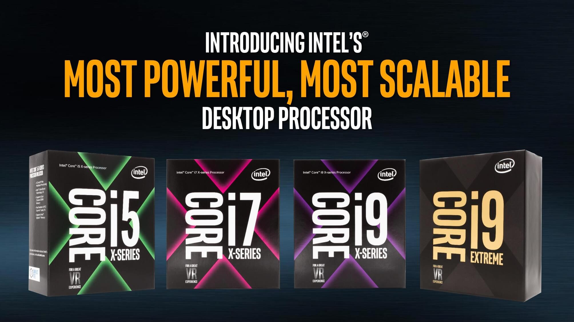 Intel unveils new X-series processors, including the $2,000 18-core/36-thread i9 chip