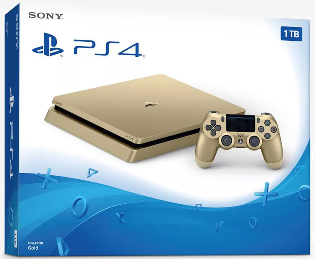 Sony's golden PlayStation 4 Slim with 1TB of storage gets official
