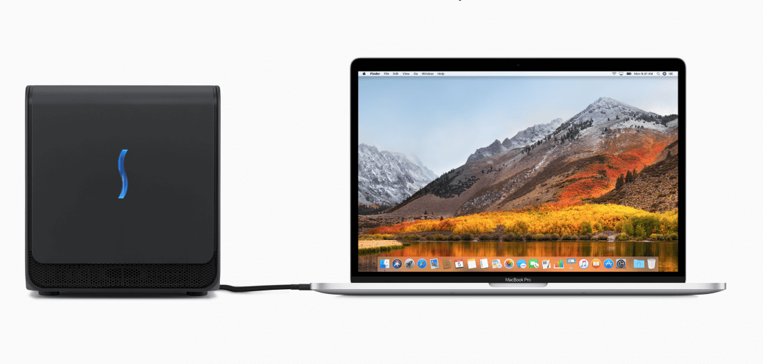 Apple offers external GPU enclosure to developers, consumer version might arrive next year