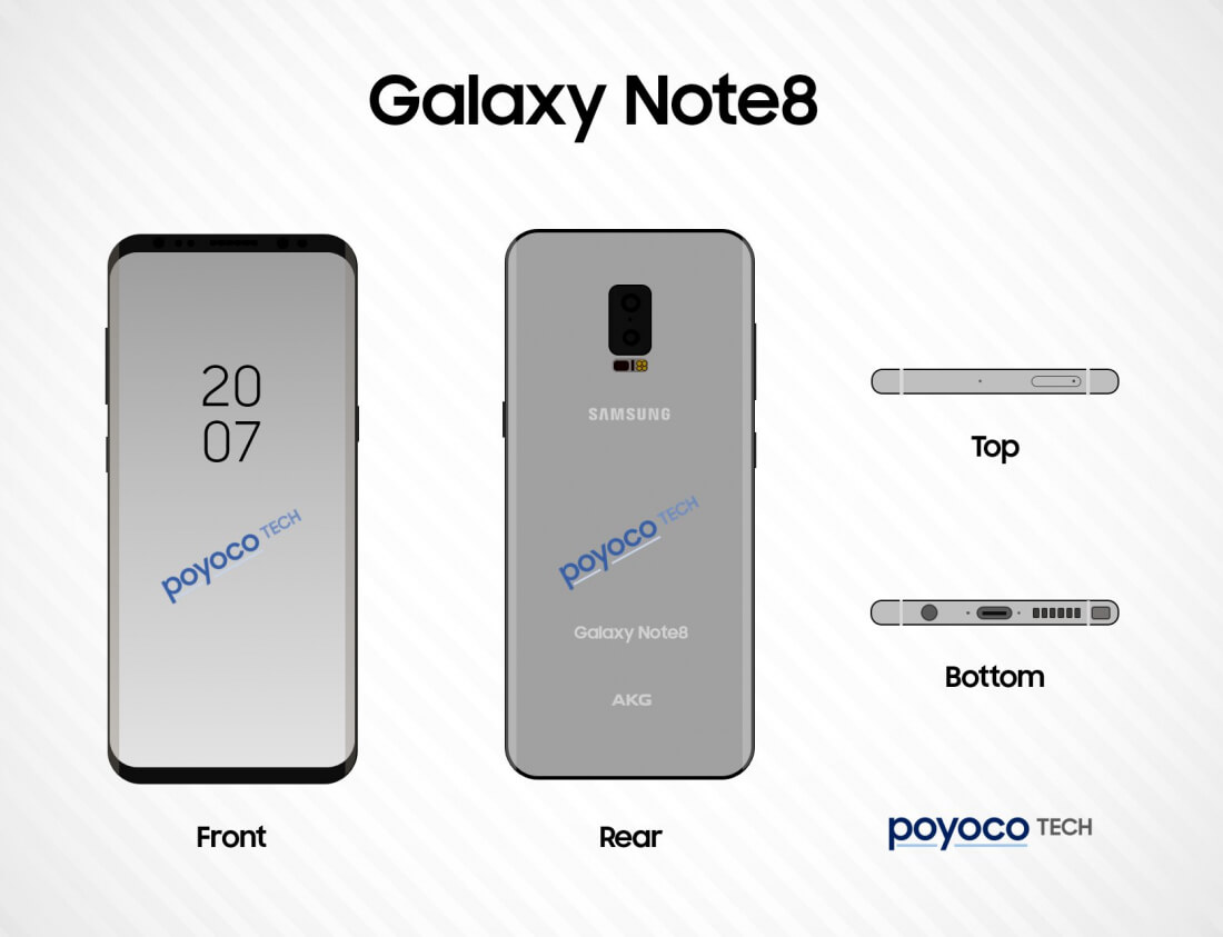 New Galaxy Note 8 leaks show off features new to Samsung phones