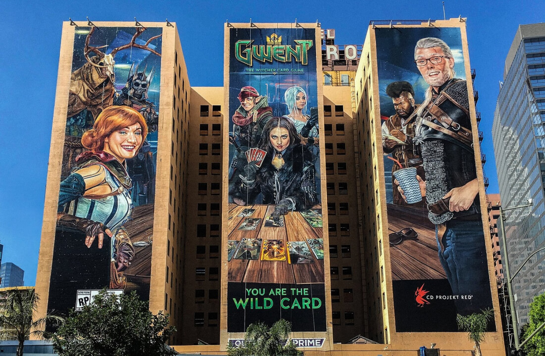 Check out the hand-painted wall ads of E3