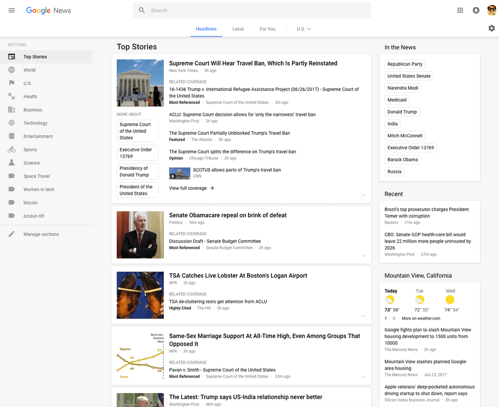 Google News updated with Material Design, adds fact checking