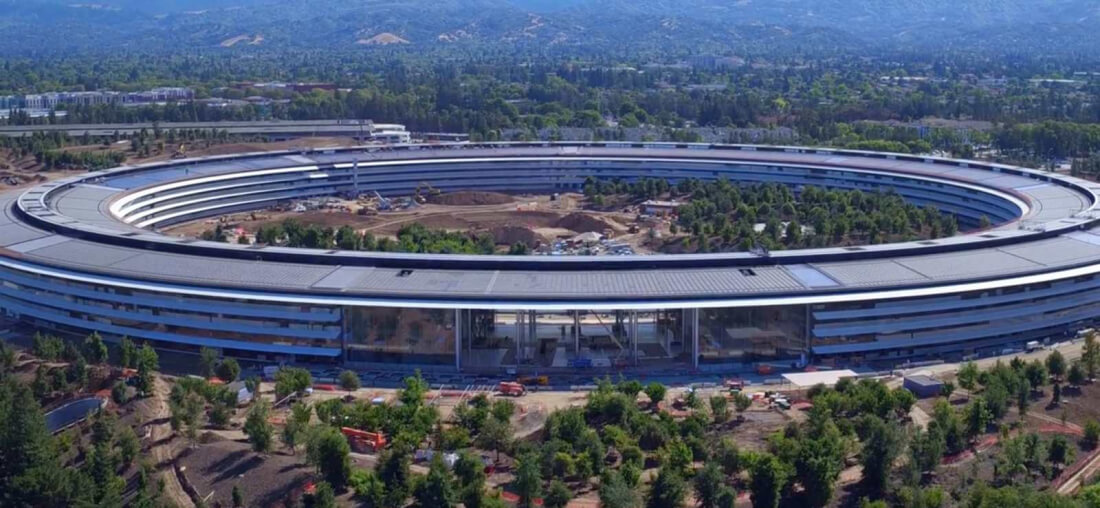 Apple has declared the airspace above its new campus a 'no-fly zone'