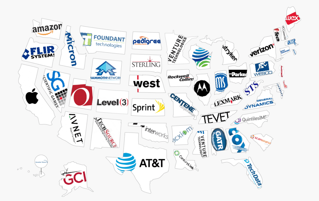 tech company biggest state every technology infographic shows techspot