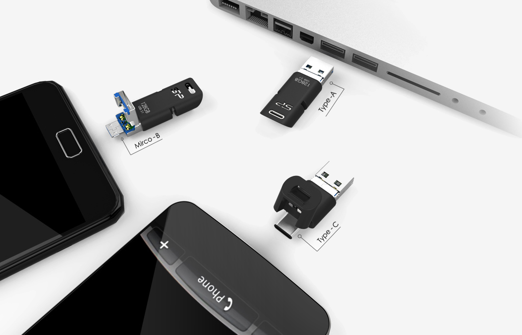 This Versatile 3 In 1 Flash Drive Offers Usb Type A Micro