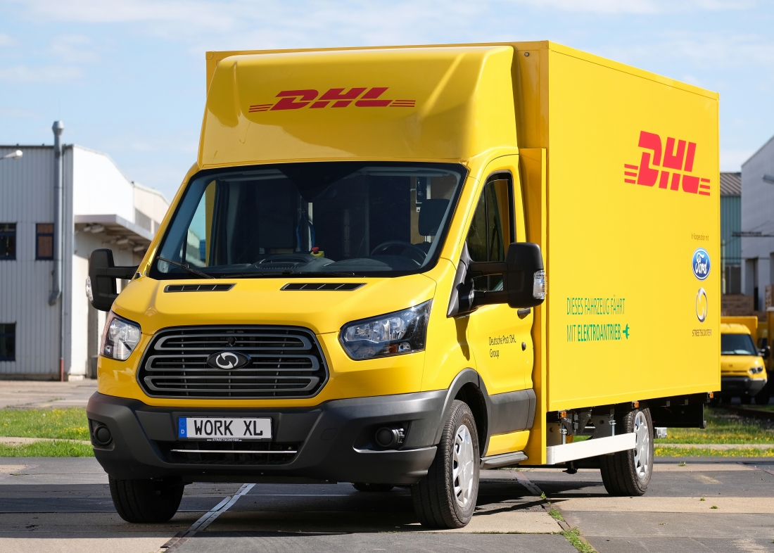 Ford and DHL show off electric delivery van