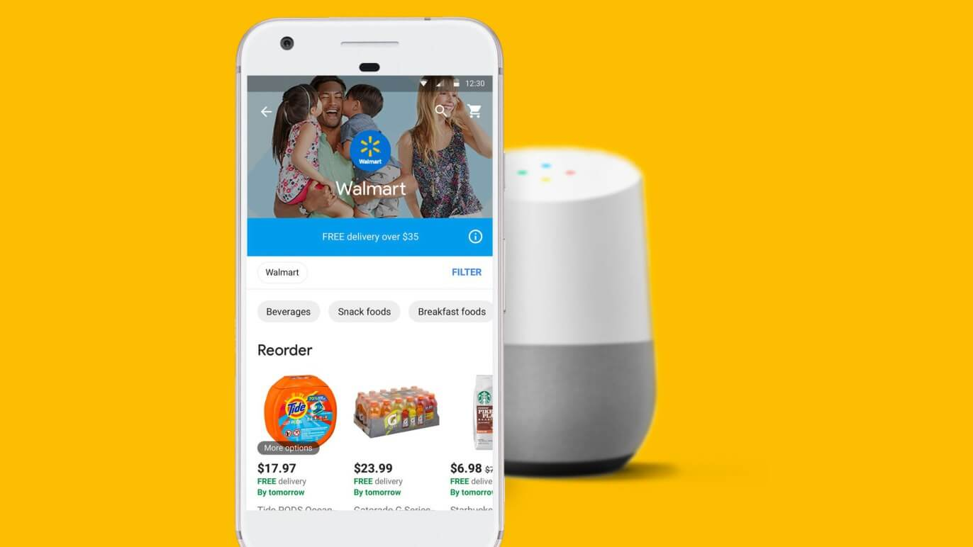 Walmart teams up with Google for voice activated shopping