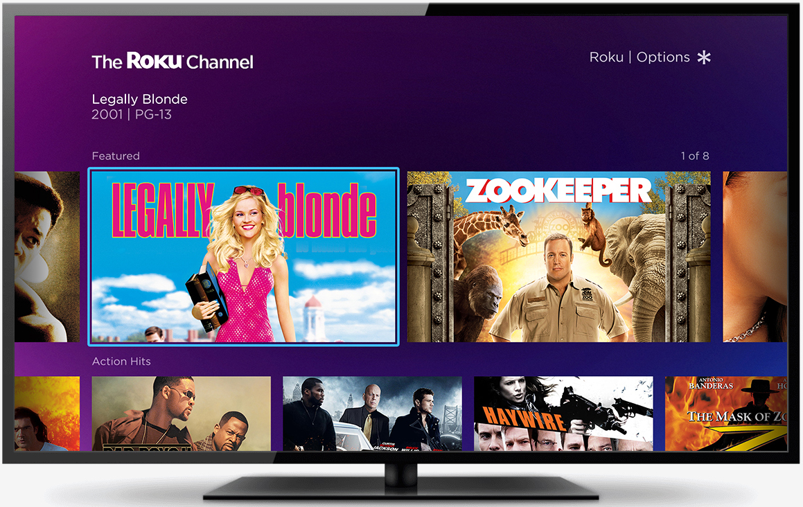 Roku just announced its own movie channel, monetized by ads