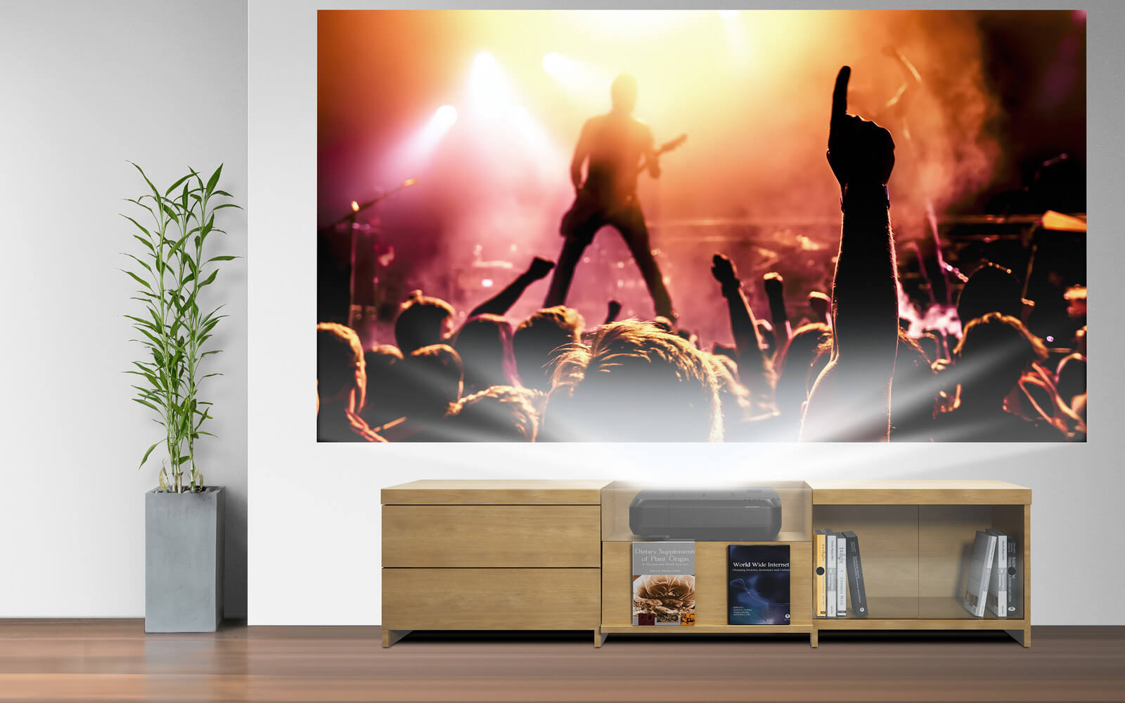 Epson's $3000 ultra short-throw laser projector can produce a 10-foot image