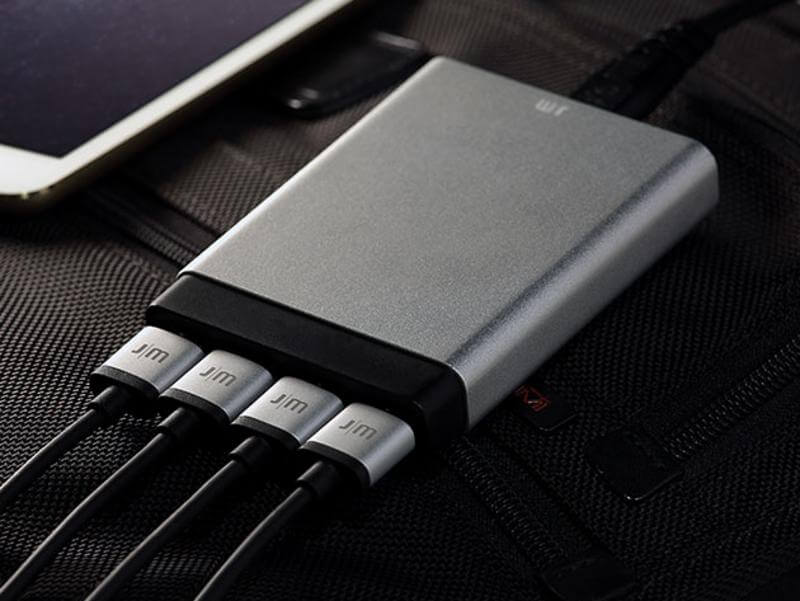 This slim charger can power 4 portable devices at once