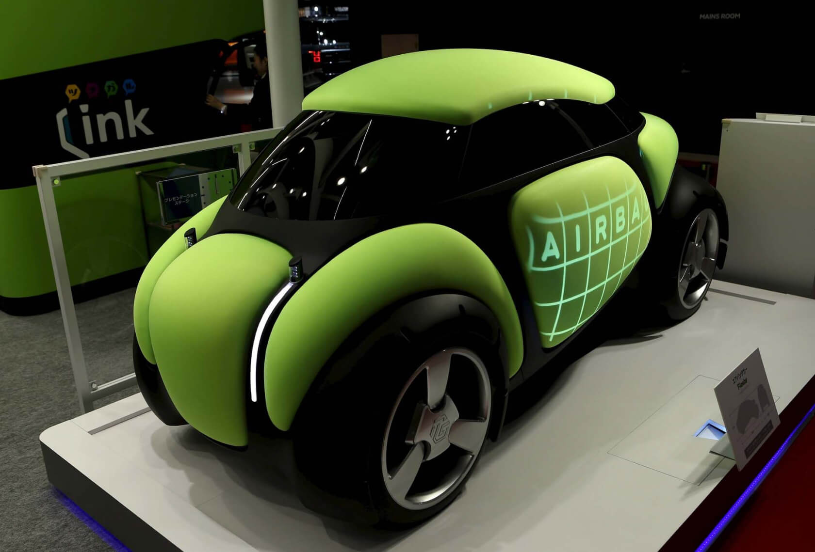 Ding-proof car with external airbags shown off at Tokyo Motor Show