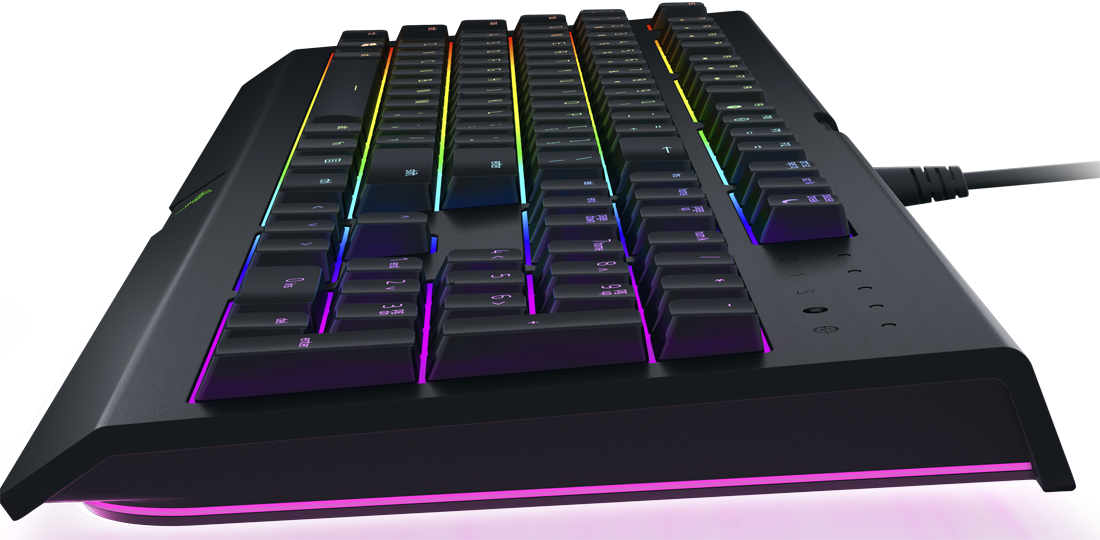 """04878ff6e88 ... the boards also feature individually-backlit RGB lighting for a  """"colorfully immersive gaming experience"""" that's driven by Razer's Chroma  technology."""