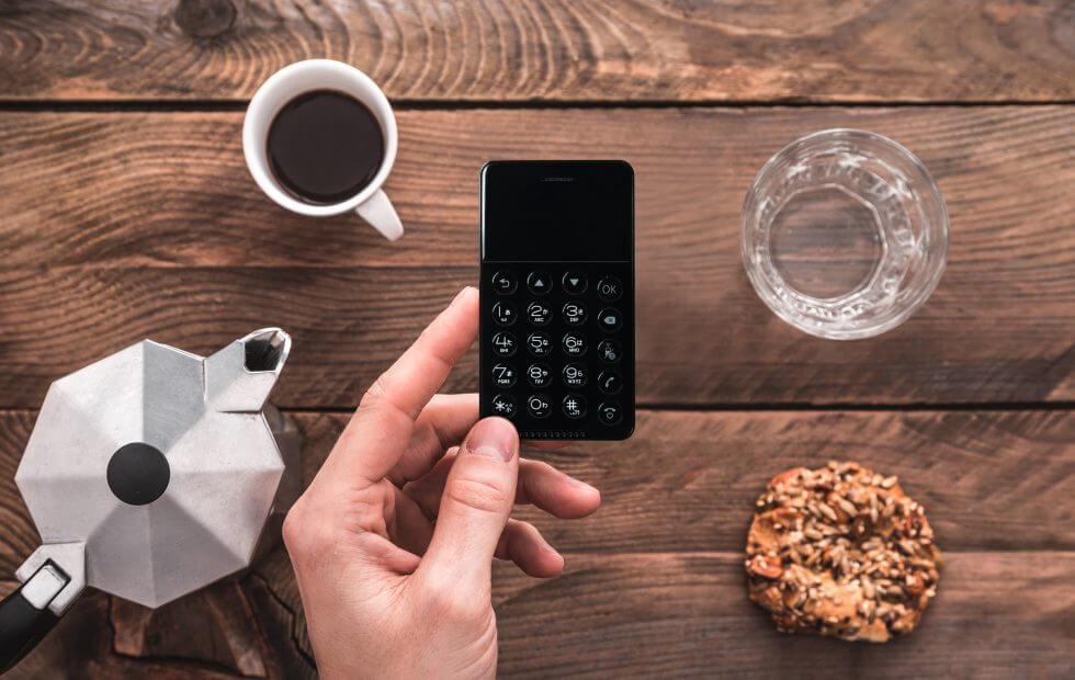Check out the NichePhone-S, a credit card-sized phone that runs Android