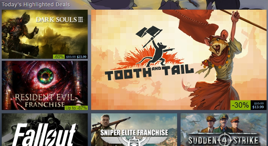Steam's annual Black Friday Sale is live with deals on thousands of games