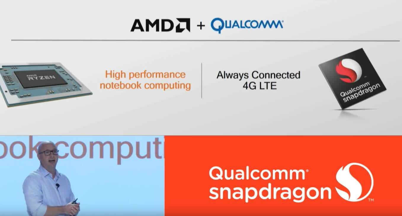Qualcomm and AMD are putting LTE into laptops with Ryzen mobile