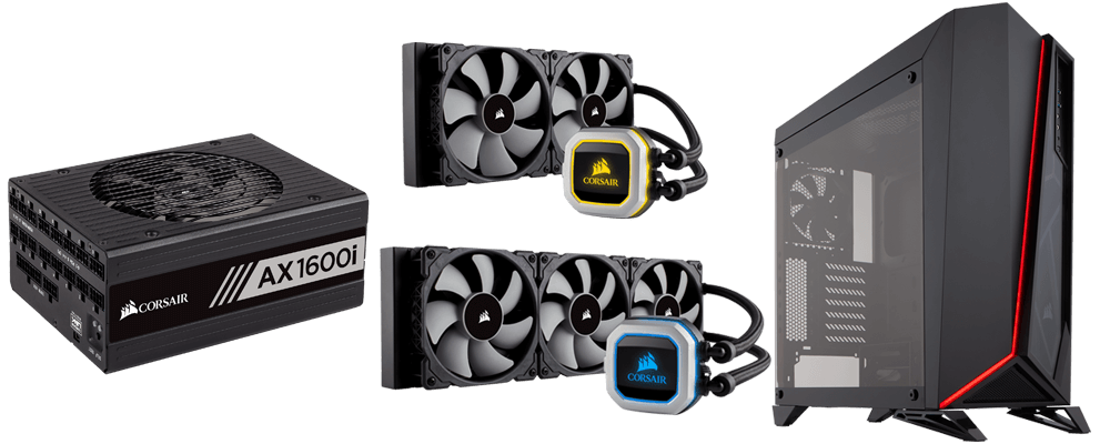 Corsair showcases new power supply, case and AIO coolers at