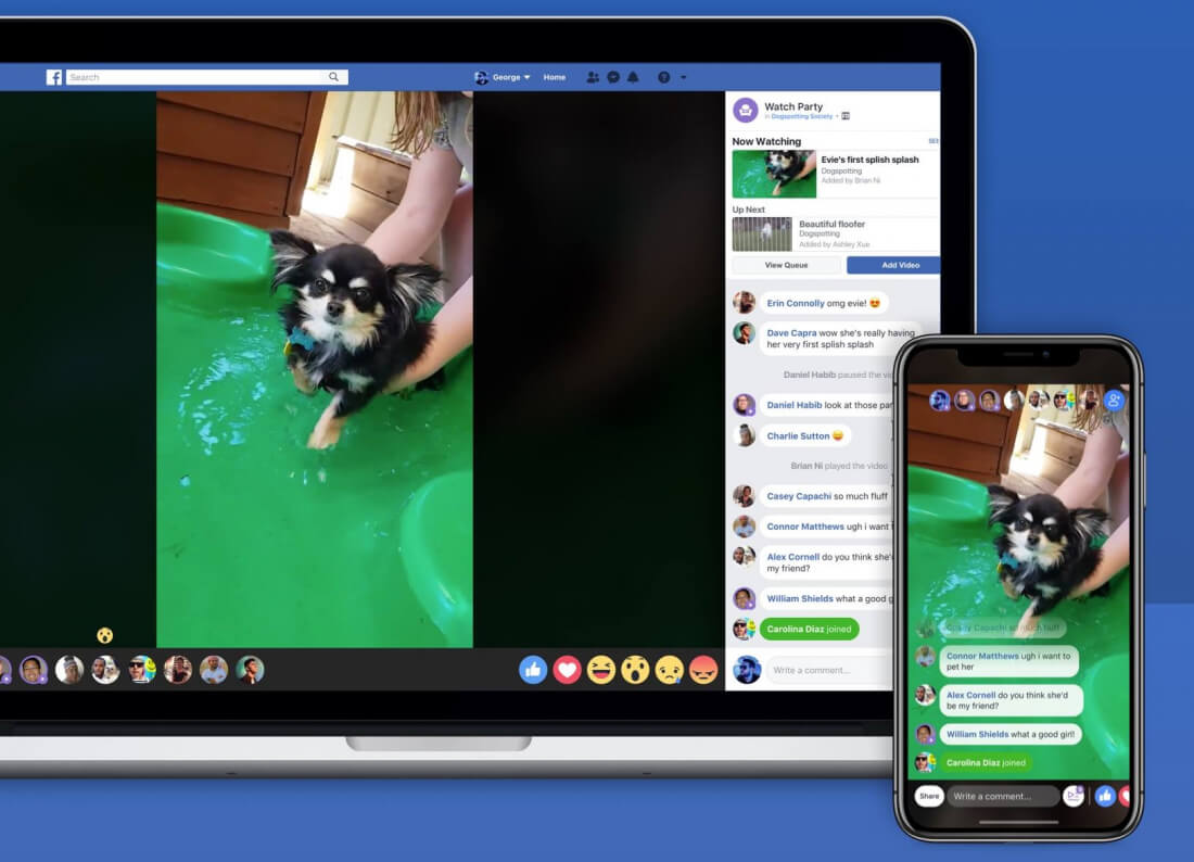 Facebook Unveils 'Watch Party', Making Watching Videos a Social Experience