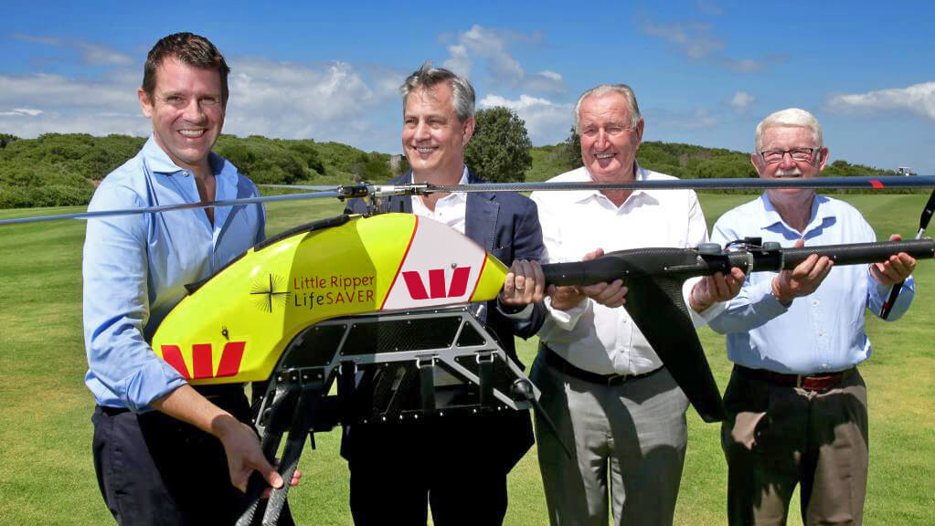 Little Ripper lifeguard drone rescues stranded swimmers in Australia