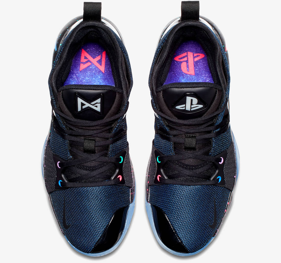 b820d915a24d The midsole and sock liners are based on the PlayStation Galaxy theme while  leather on the outside features Sony s familiar button symbols.