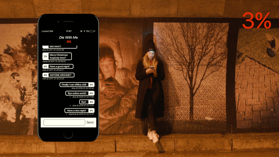 Die With Me is an app you can only use when your phone's battery is