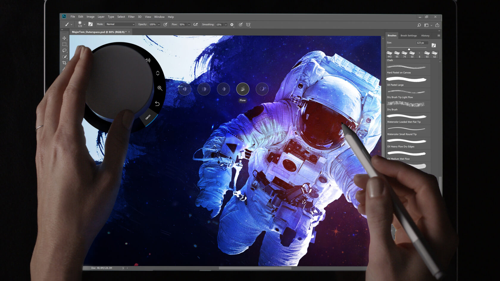 Photoshop update brings a better interface to 8K displays