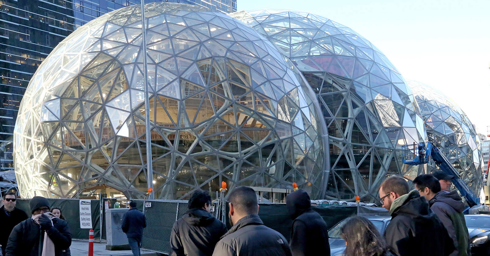 Entrance Ideas Amazon Opens Rainforest Dome Offices In Seattle Techspot