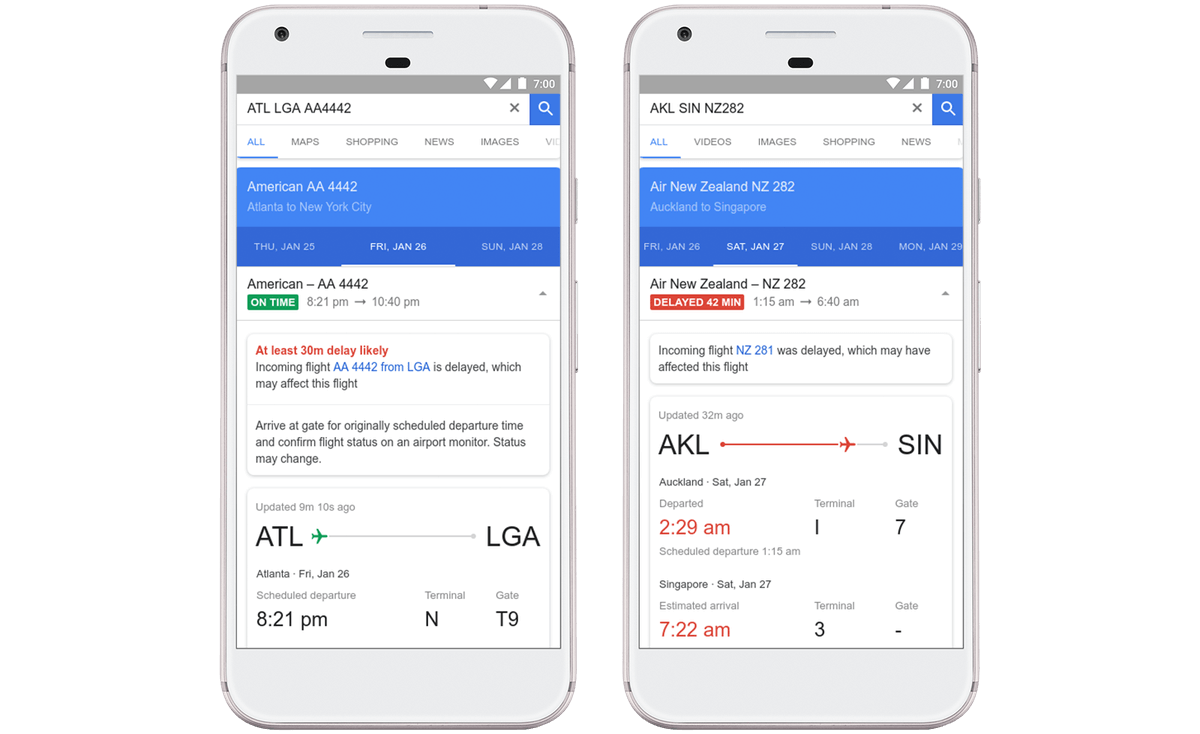 google flights can now predict delays and reveals the. Black Bedroom Furniture Sets. Home Design Ideas