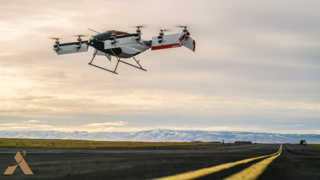 Airbus drone taxi makes first flight