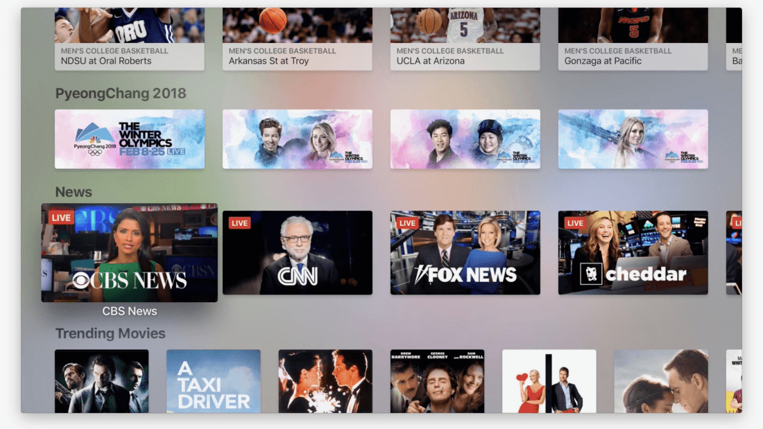 Apple's TV app now supports live news broadcasts