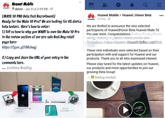 Huawei asked people to write fake Mate 10 Pro reviews for