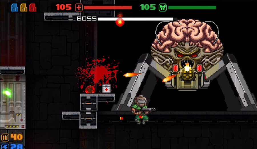 Check out Doom as a 2D retro platformer with this free, fan