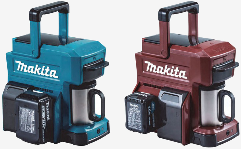 Makita cordless coffee maker runs on power tool batteries - TechSpot
