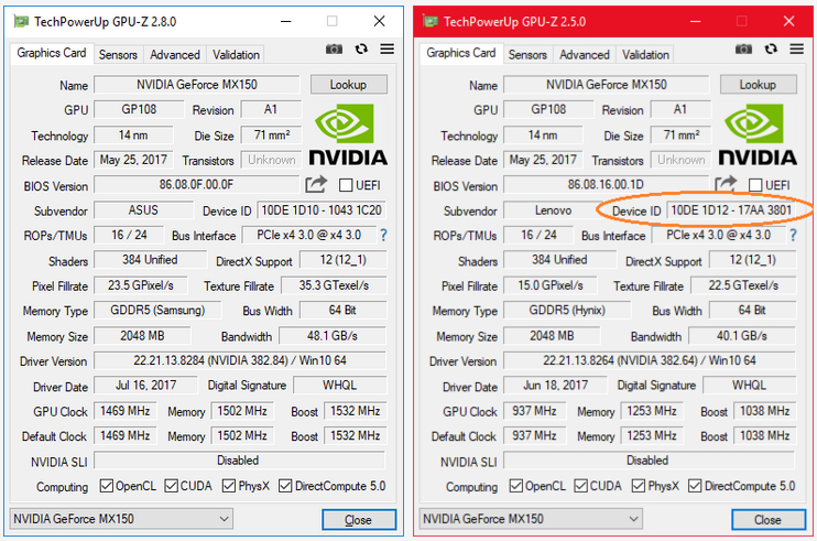 Not all Nvidia MX150 GPUs are created equal - TechSpot