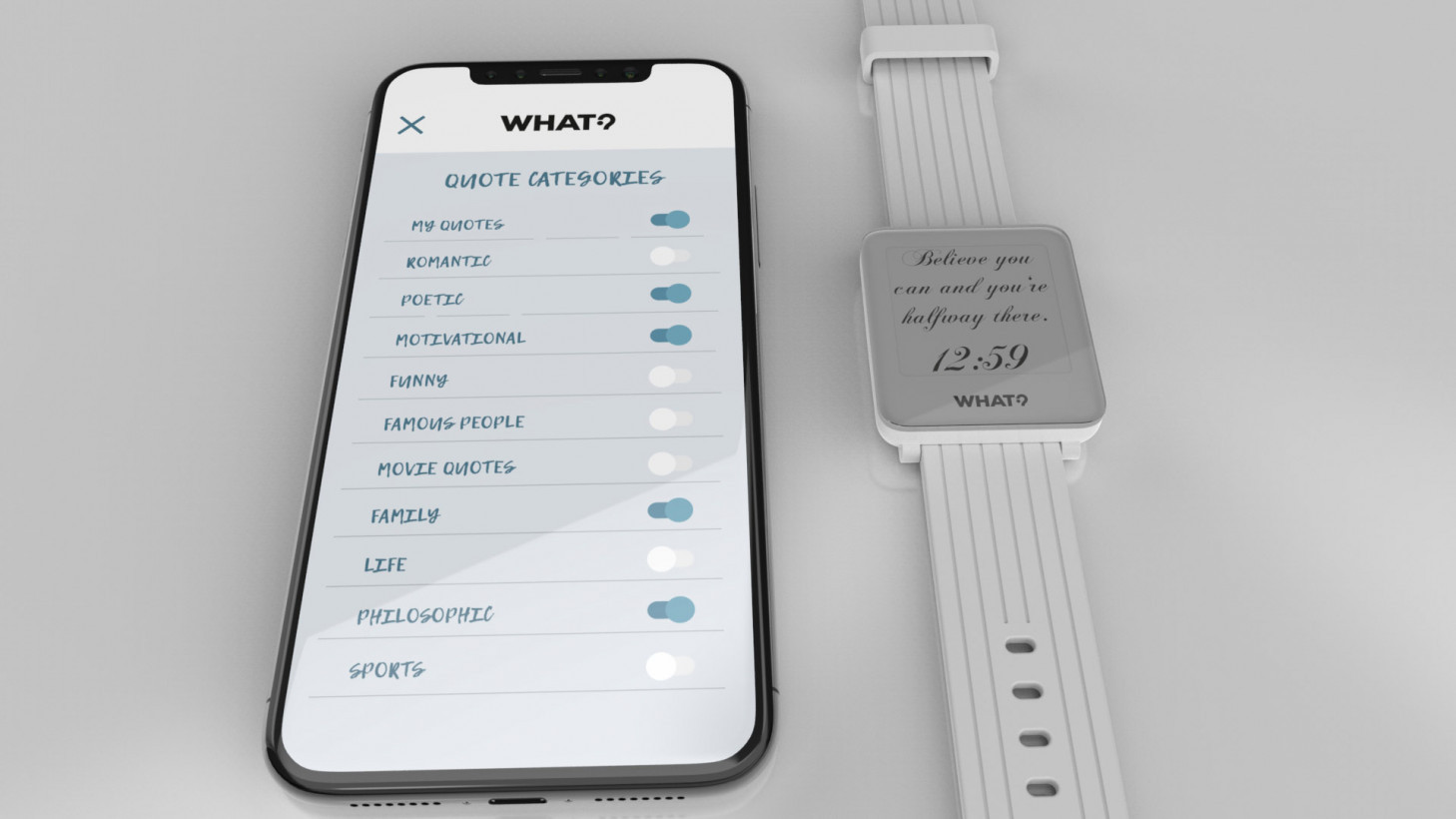 This smartwatch is perfect for lovers of inspirational