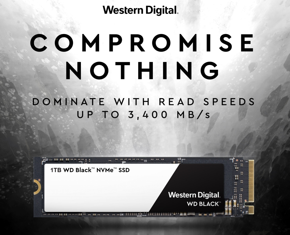 Western Digital goes for sheer speed with new WD Black NVMe SSD