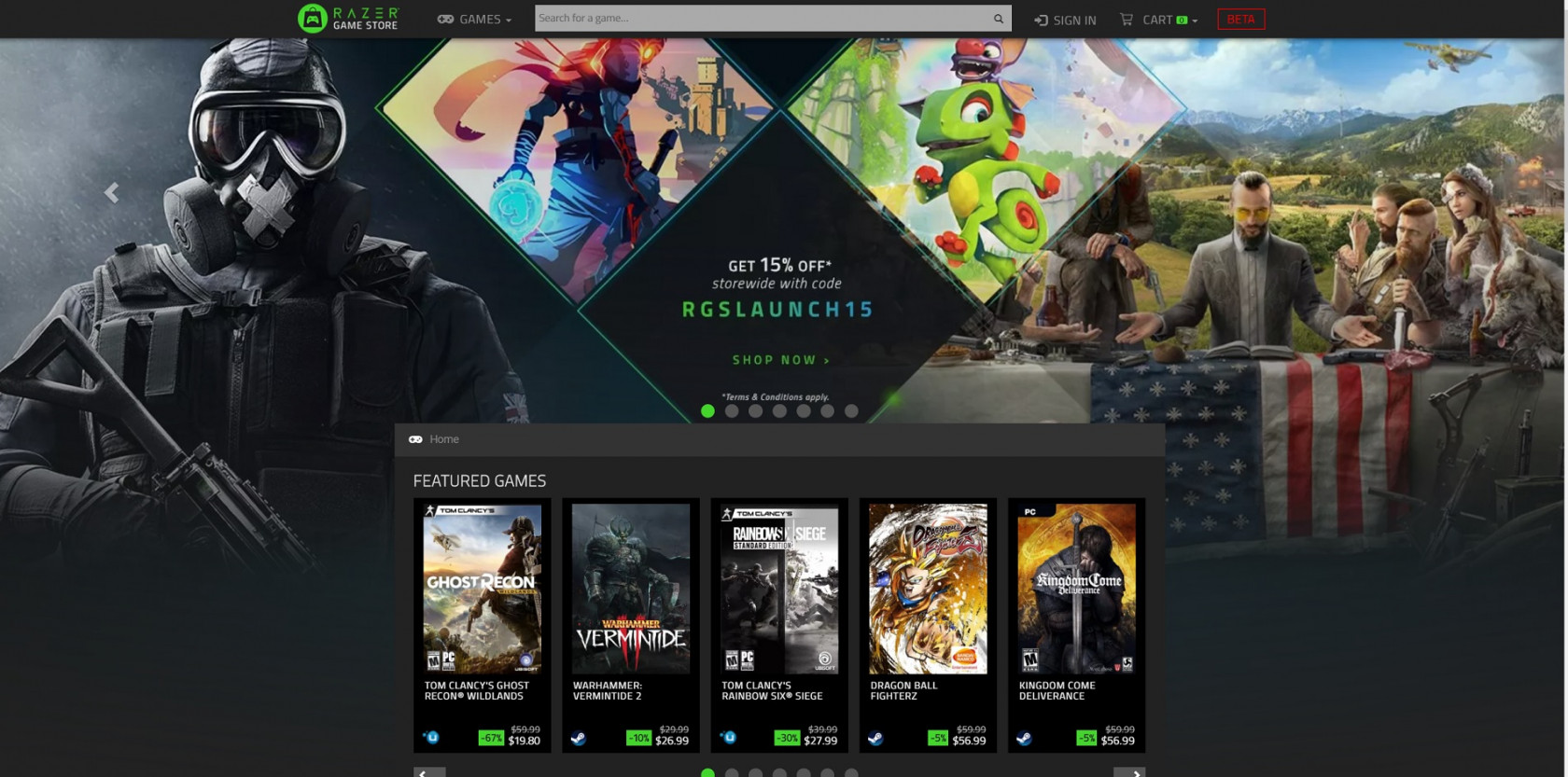 Razer's new online game store offers discounts and rewards to buyers