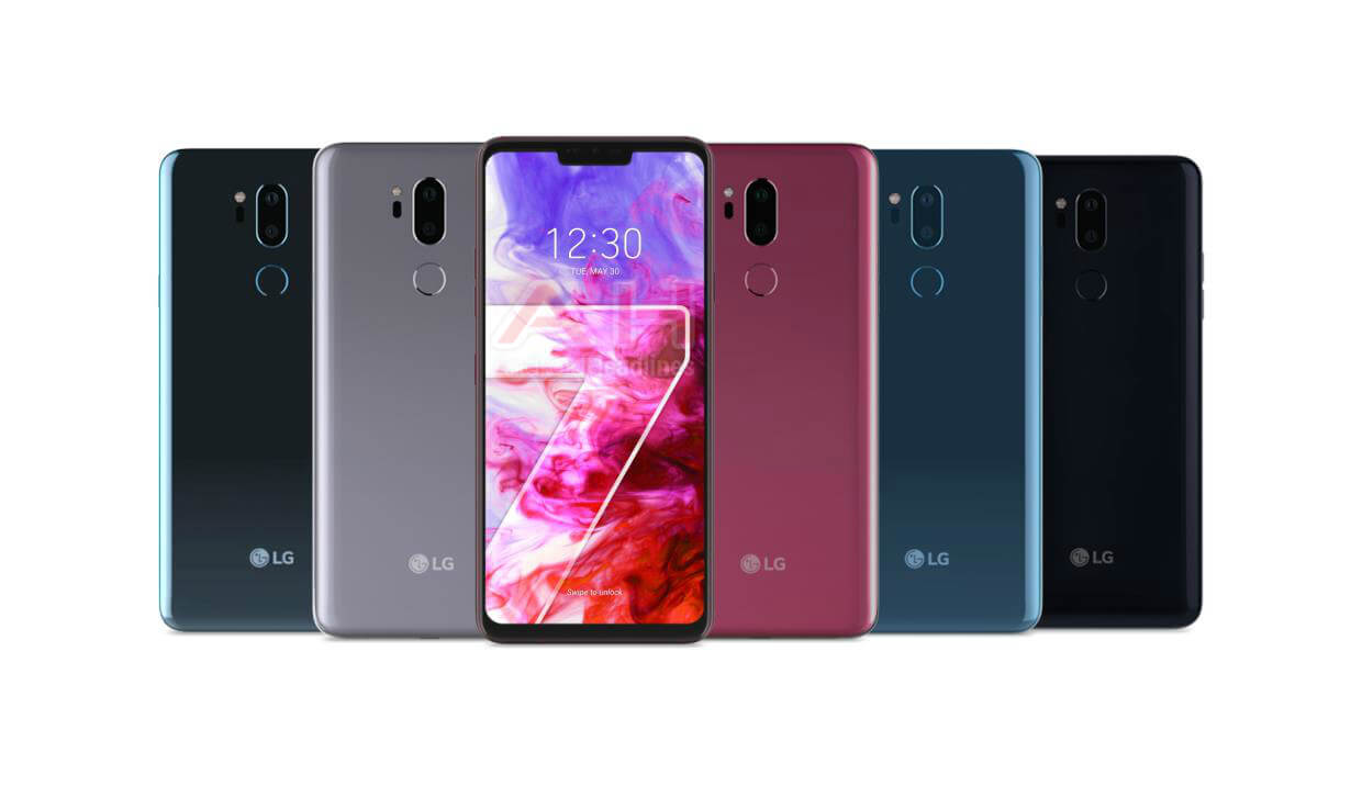 LG announced LG G7 ThinQ, With a Display Notch and official colors