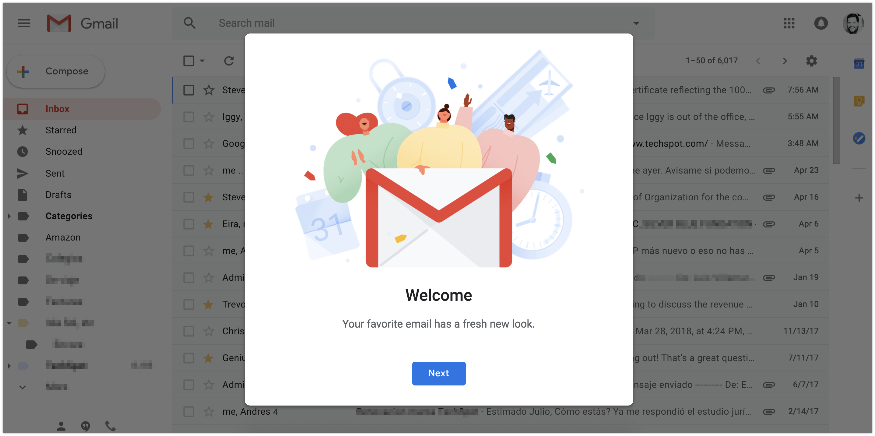 Google's Gmail update has arrived: self-destructing messages, snooze, and much more