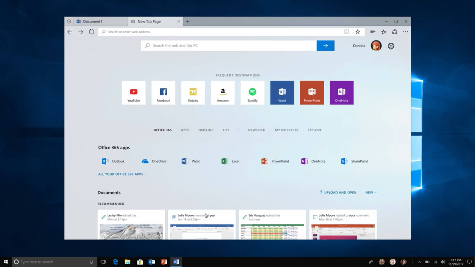 Microsoft's upcoming Windows 10 'Sets' feature will let you