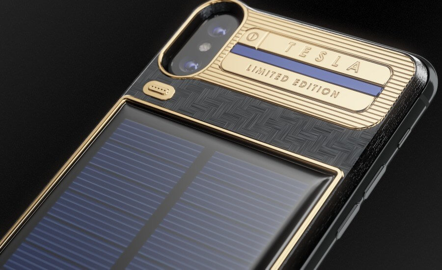 $4300 iPhone X with attached solar charger goes on sale
