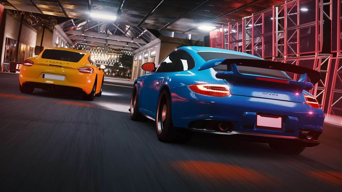 Microsoft's free racing game is controlled using only a mouse